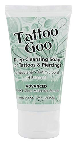 Tattoo Goo Deep Cleansing Soap for Tattoos 2oz – New Formula