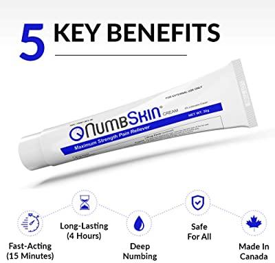 Numbskin Cream 5% Lidocaine Anesthetic Tattoo Numbing Cream
