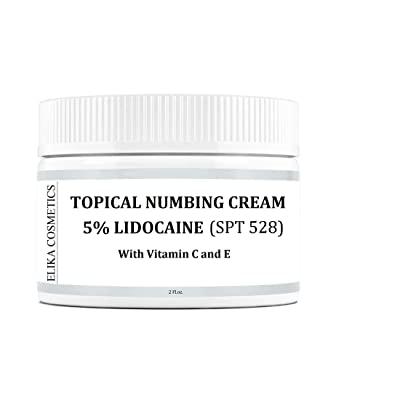 ELIKA COSMETICS Topical Numbing 5% Lidocaine Cream