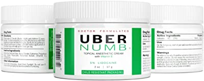Uber Scientific 5% Lidocaine Topical Skin Numbing Cream