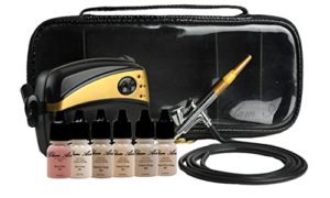 Glam Airbrush Makeup Machine Set with 5 Matte Shades